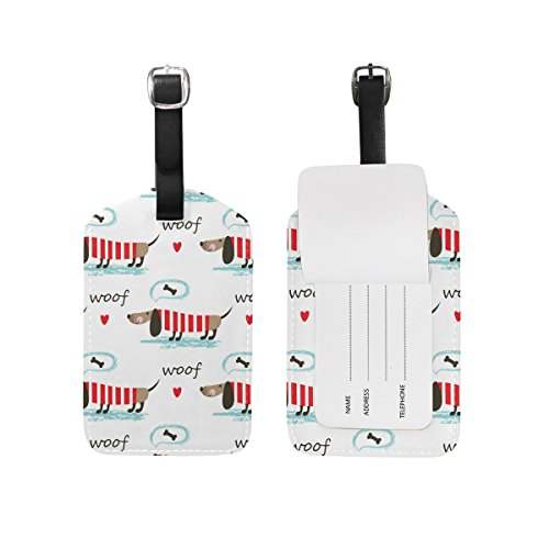 BALII Sausage Dog Puppy Luggage tag Suitcase ID Label One Piece
