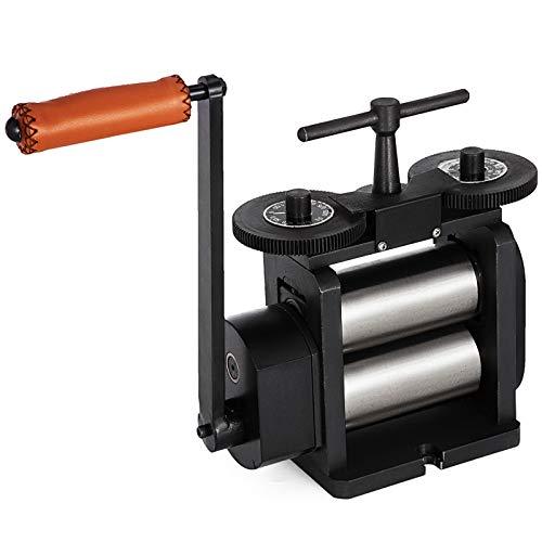 VEVOR Jewelry Flache Rolling Mill 110 mm Manuelle Kombination Walzwerk mit Durchmesser 55 mm Schmuck mit Gute Verschleißfestigkeit Tablettierung Verarbeitungsgeräte für Schmuck Design und Reparatur