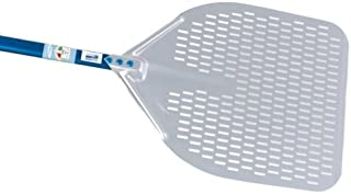 Professional 13-inch Rectangular Perforated Pizza Peel - 47-inch Handle