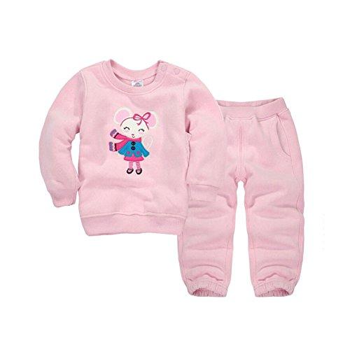 CuteOn Tout-Petit Enfants bébé Garçons Filles Hiver Survêtement Pullover Sweat-Shirt Décontractée Top + Pantalons Tenues Ensemble Rose 24 Mois