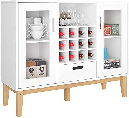 Anrichte mit Weinzahnstange, die mit großer Kapazität Flaschen 12 Bar, ein Restaurant wohn Lagerung aufnehmen können,White