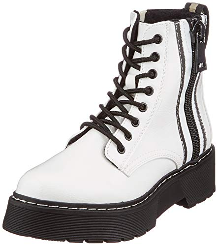 Tom Tailor Womens 9096402 Mid Calf Boot Bootie Boot, White, 5.5 UK