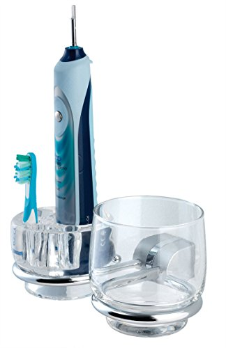 Beker - / tandenborstelhouder voor bruin Oral B + gratis verzending / 3453 Tiger Cria chroom mat badaccessoire set serie bekerhouder, glashouder, tandenborstelhouder, tandenborstelhouder, tandenborstelbeker