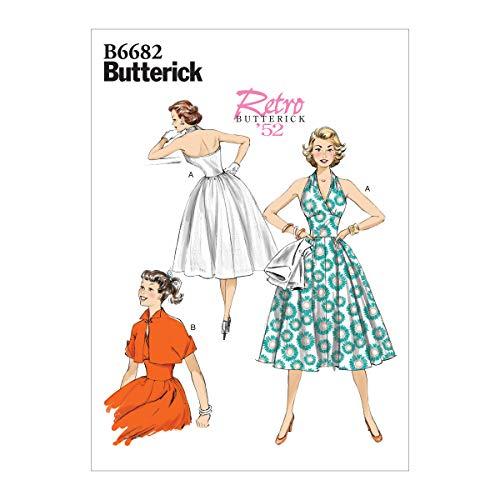 Butterick B6682A5 Schnittmuster Damen Kleid und Jacke Vintage Größen 34-42