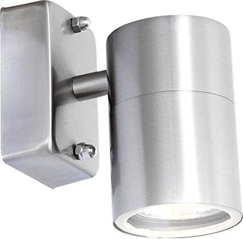 Spot acier affiné, clair, IP44, D:60, H:105, incl. 1xGU10 35W 230V