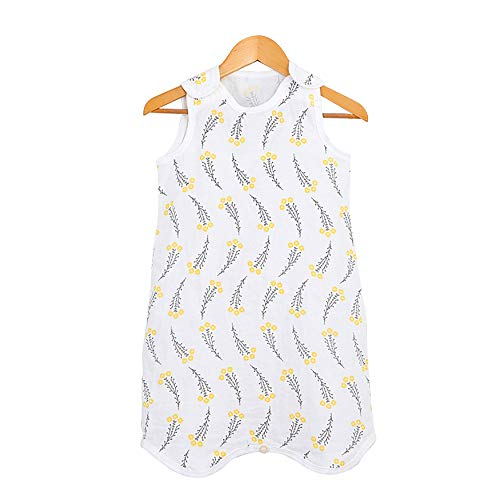 "EsTong Baby Sleep Bag Infants Summer Lightweight Wearable Blanket Cotton Toddler Nest Nightgowns Sleeping Bag Yellow Flower Length: 31.5"""