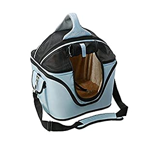 One for Pets Deluxe Cozy Dog Cat Carrier, Large, Powder Blue