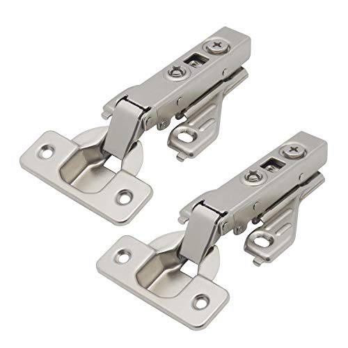 Probrico Full Overlay Soft Closing Clip On Face Frame Mounting Cabinet Hinges,1 Pair