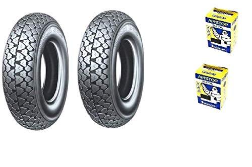 2 Deux pneus Michelin s83 + chambre à air 3.50 10 59J + jante LML Star 200