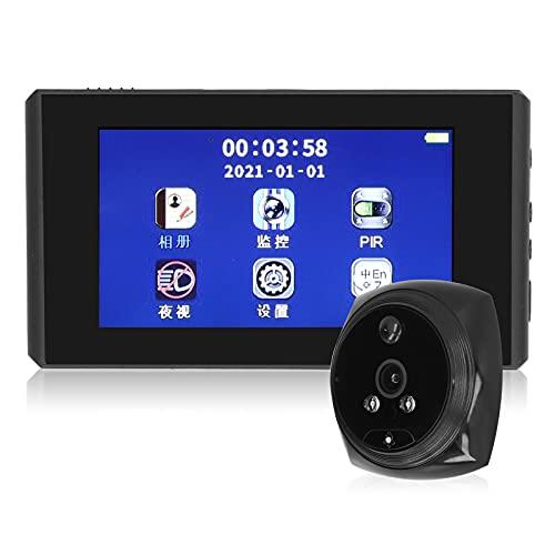 Visor de puerta, 2 luces infrarrojas incorporadas, timbre de 1080P, grabación de video práctica, 4 tipos de tonos de llamada de música para la seguridad del hogar
