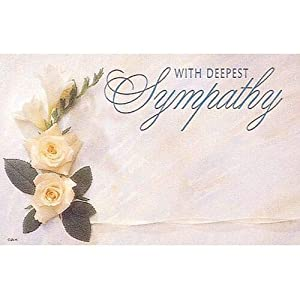 """50ct. Rose Flower""""Deepest Sympathy"""" Blank Florist Enclosure Cards Small TagsGreeting Cards & Party Supply, Gift Wrapping Supplies, Greeting Cards, Invitations"""