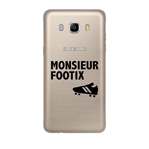 ZOKKO - Carcasa para Samsung Galaxy J5 2016 con diseño de Monsieur Footix (Tinta Negra)