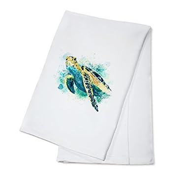 Sea Turtle - Watercolor (100% Cotton Kitchen Towel)