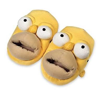 Homer Simpsons Hausschuhe Slipper Plüschschuh Pantoffel Plüschtier (38-40)