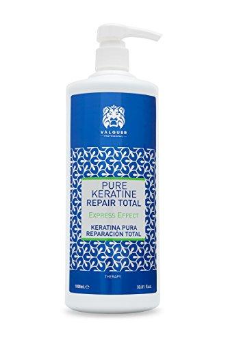 Valquer Profesional Keratina Pura para el cabello Total Repair. Cabellos dañados. Sin sulfatos, sin siliconas, sin sal - 1000 ml