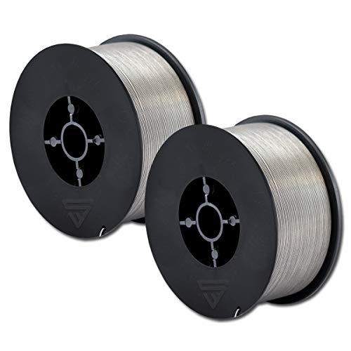 STAHLWERK MIG/MAG Fülldraht Ø 0,8 mm, FLUX Schweißdraht E71T-1C, auf 1kg D100 Rolle mit 16mm Dorn, universell einsetzbar, 2er Set