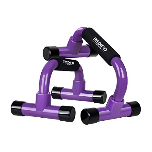 Redipo Push Up Bars - Push Up Handles, Home Workout Equipment with Non-Slip Sturdy Structure - Push Up Stands for Floor are Great for Home Fitness Training, Strength Workouts, Muscle Ups(Purple)