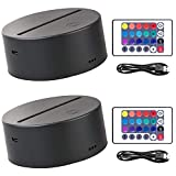 Each light base has 10 LED beads, works with a acrylic pattern plate for showing colorful light Come with IR remotes, which allows for convenient operation about dimming and ON/OFF 10 LED beds, 16 static color light and 4 lighting modes to choose suc...