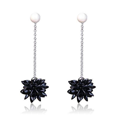COISINI Ohrringe Mode Kristall Ohrringe Von Frauen Weibliche Pearl Lange Ohrringe Wildes Temperament Hypoallergen 925 Silber Nadel