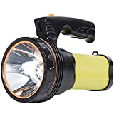 AF-WAN Super Bright Rechargeable Torch,Powerful LED Searchlight 6000 Lumens Portable Led Flashlight Spotlight