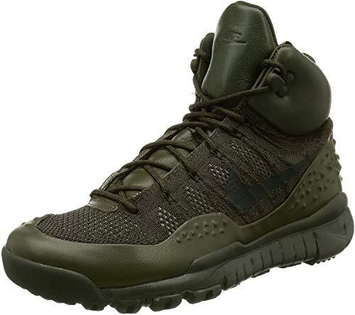 Nike Lupinek Flyknit Mens Hi Top Trainers 862505 Sneakers Shoes (UK 7 US 8 EU 41, Cargo Khaki Sequoia 300)