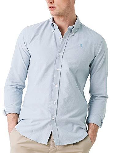 Scalpers New Oxford BD - Camisa para Hombre, Talla 43, Color Verde Agua