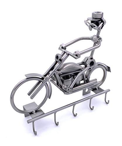 Boystoys HK Design - Schlüsselbrett Motorrad Harley-Biker Schraubenmännchen - Metall Art Geschenkideen Schlüsselhalter - Deko Skulptur Biker & Motorräder - hochwertige Original Figuren handgefertigt