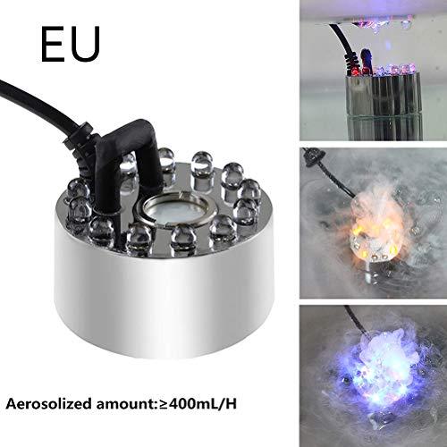 Borstu Aquarium Nebelerzeuger Elektrischer Nebelmacher 12 LEDs Farbwechsel Nebel Hersteller Maschine für Wasserbrunnen Teich Steingarten