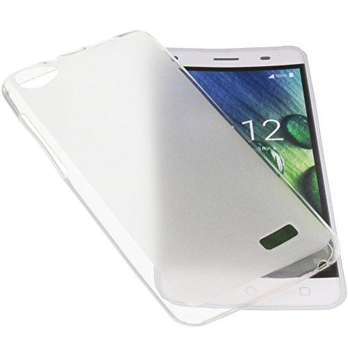 foto-kontor Tasche für Acer Liquid Z6E Gummi TPU Schutz Handytasche transparent weiß