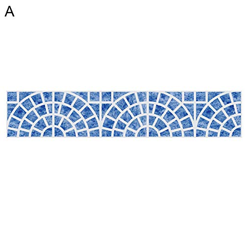 Momangel - 1 hoja de pegatinas para azulejos de estilo mediterráneo, diseño geométrico, antideslizante, impermeables, para baño, cocina, comedor, hogar, decoración a