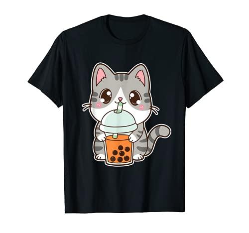 Kawaii - Té de leche con perla de burbujas heladas tailandesas Camiseta