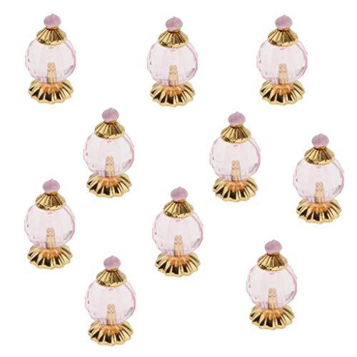 Desconocido Generic Casa de Muñecas de 10 Piezas, Frascos de Perfume en Miniatura, Accesorios Modelo 1:12 - Rosado