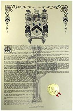 Lasserre escudo de armas, Escudo del familia y nombre historia–Celebración Scroll 11x 17vertical–Francia origen