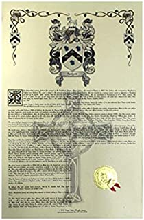 Lamb Coat of Arms, Family Crest and Name History - Celebration Scroll 11x17 Portrait - England Origin