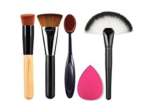 Demarkt Sets de Maquillage Pinceau Maquillage Set Professionnel Brush Éponge Puff Cosmétique Pour Les Ombre à Paupières Fondation Sourcils Lèvres Pinceau Maquillage Beauté Flawless eau Gouttelettes Éponge Cosmétique