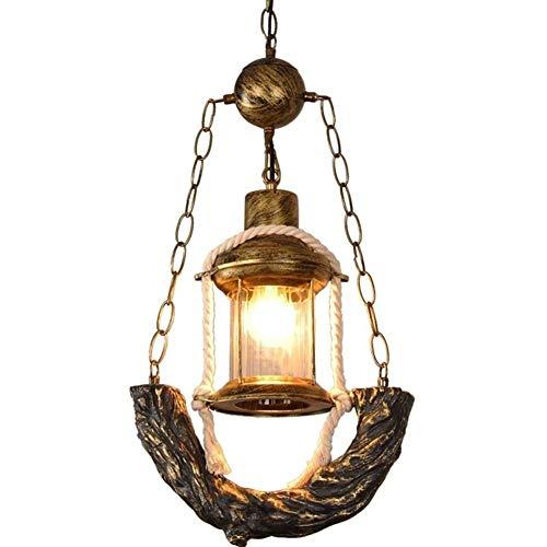 DXYSS Decoración Hogareña Iluminación Colgante Araña, lámpara de Hierro Forjado Cubierta, Retro Restaurante Bar lámpara de araña, café, peluquería Tienda de Ropa, Creativo de la lámpara