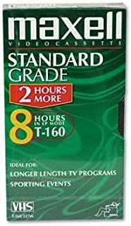 Single 160 Minutes Maxell T38198-Premium High-Grade Videocassettes for Time-Lapse Use
