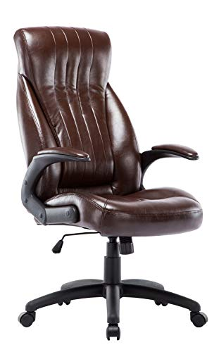 IntimaTe WM Heart Office Chair High Back Office Desk Chair Executive Computer Chair Office Chair with Arms and Back Support,Recline Computer Chairs for Home (Brown)