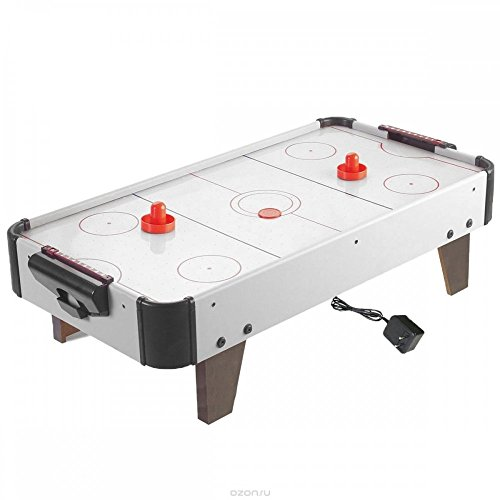 DOMENICO World Kids Rechargeable Wooden Indoor Air Hockey Game Table(Black and White)