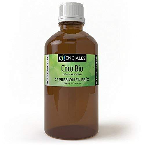 Essenciales - Aceite Vegetal de Coco BIO, 100{85fa71b4018faa059b651c8be298f570361ffbdff3e9be34c41715f1439d3449} Puro y Certificado ECOLÓGICO, 1 Litro | Aceite Vegetal Cocos Nucifera, 1ª Presión Frío