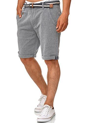 Indicode Heren Cuba chinoshort met 5 zakken en gesp, 100% katoen | Kort Broek Regular Fit bermuda zomerbroek herenshort Men Pants Chino-Broek Voor Mannen