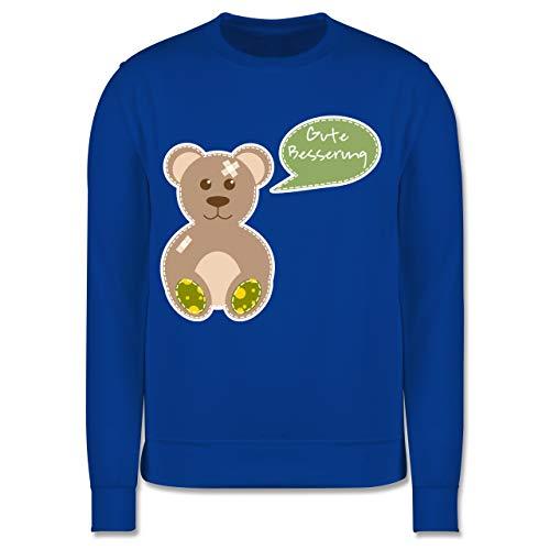Shirtracer Up to Date Kind - Bär Gute Besserung - 104 (3/4 Jahre) - Royalblau - Pflaster - JH030K - Kinder Pullover