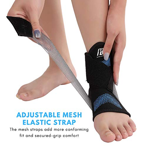 Ankle Brace for Women and Men, Ankle Support with Adjustable Compression Strap for Sprained Ankle, Injury Recovery and More! (Large)