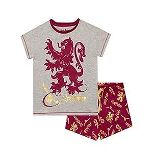 HARRY POTTER Pijamas de Manga Corta para Niñas Gryffindor 24