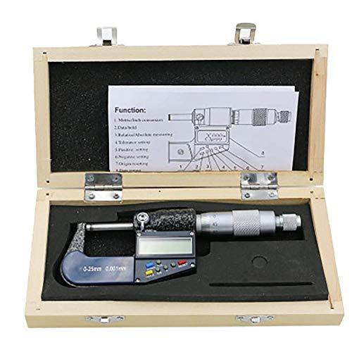 WANGIRL Elektronisches 0,001-mm-Legierungsmesswerkzeug LCD-Anzeige Anti-Slip-Einstellbar mit Tickmarke außerhalb des Messschiebers digitalem Mikrometer LOLDF1