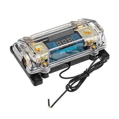 Yuquanxin Caja de Soporte de Fusible 100A 1 en 1 Salida para el Cable de alimentación del Sistema de Audio de 12 V Durable