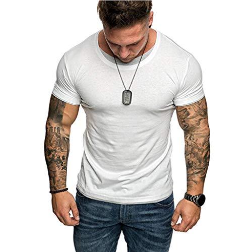 Luckycat Gym Herren Fitness T-Shirt Slim Fit Moderner Männer Bodybuilder Trainingsshirt Kurzarm Top Herren Sport T-Shirt Bekleidung für Bodybuilding Training T-Shirt Herren