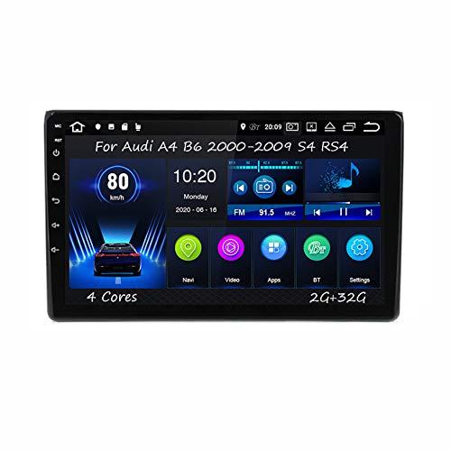Android 9 Pulgadas Estéreo GPS Navigator De Coches Reproductor De Vídeo para Audi A4 B6 2000-2009 S4 RS4 4 Cores 2G+32G Car Player con Pantalla Táctil Coche Conecta Y Reproduce Coche Audio SWC
