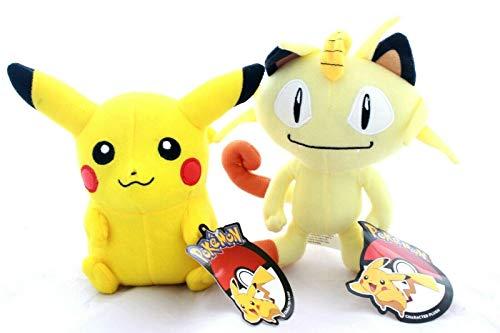 Pokemon Pikachu and Meowth Plush Stuffed Figure Doll Toy Gift
