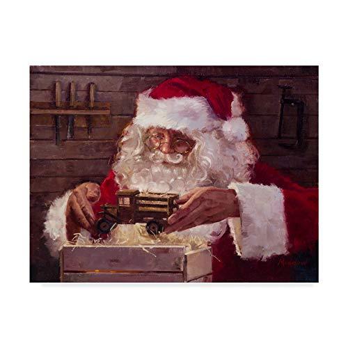 Trademark Fine Art Santas Workshop Inspection by Meadowpaint, 35x47-Inch -  ALI43272-C3547GG